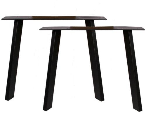 På billedet ser du variationen Stel til plankeborde, Trend base oblique fra brandet Preform i en størrelse H: 71 cm. B: 88 cm. L: 8 cm. i farven Sort