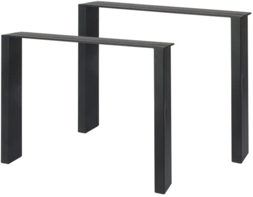 På billedet ser du variationen Stel til plankeborde, Trend base straight fra brandet Preform i en størrelse H: 71 cm. B: 88 cm. L: 8 cm. i farven Sort