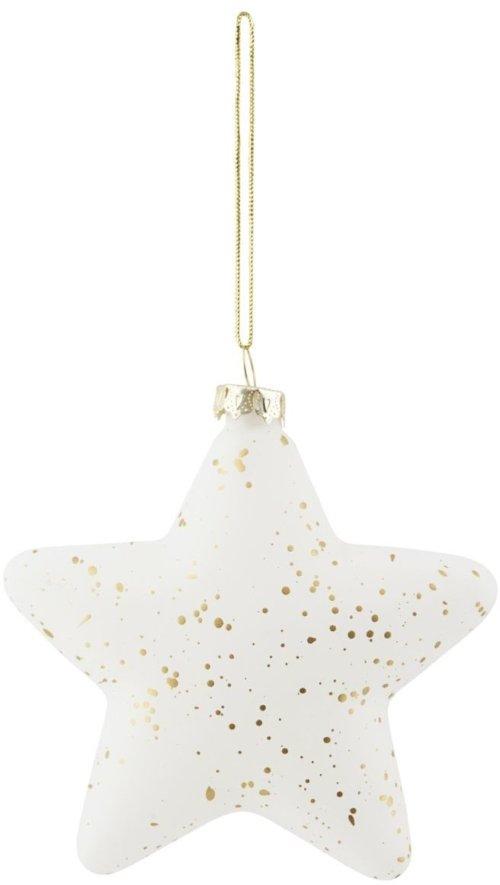 På billedet ser du variationen Stjerne, Gold sprinkle fra brandet House Doctor i en størrelse H: 10 cm. i farven Guld