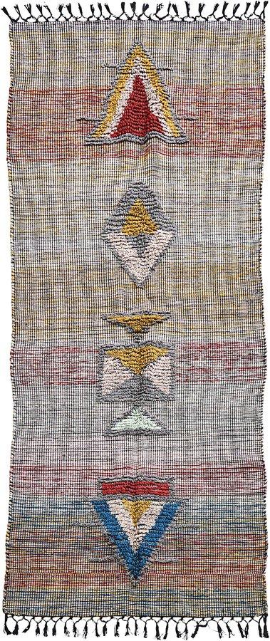 På billedet ser du variationen Tæppe, Amara fra brandet House Doctor i en størrelse B: 90 cm. L: 200 cm. i farven Grå