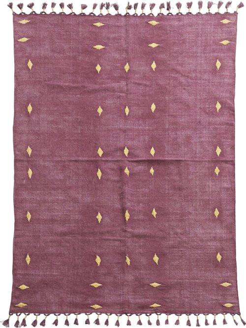 På billedet ser du variationen Tæppe, Backside fra brandet House Doctor i en størrelse B: 140 cm. L: 200 cm. i farven Vinrød