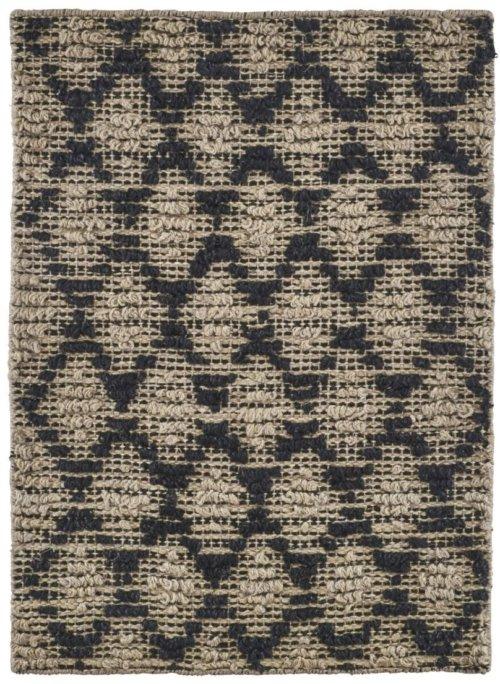 På billedet ser du Tæppe, Harlequin fra brandet House Doctor i en størrelse 50 x 70 cm. i farven Sort/Natural
