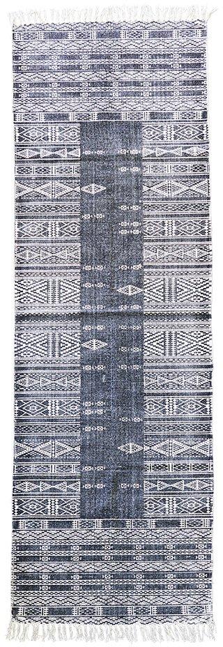 På billedet ser du variationen fra brandet House Doctor i en størrelse 70 x 240 cm. i farven Sort/Hvid