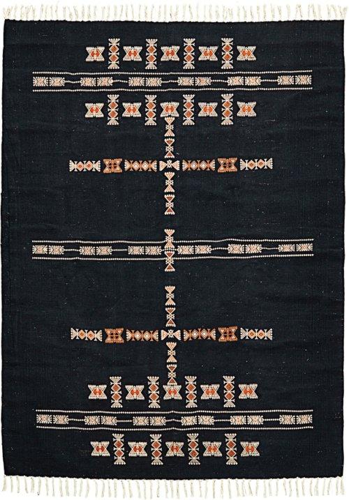 På billedet ser du variationen Tæppe, Mila fra brandet House Doctor i en størrelse B: 140 cm. L: 200 cm. i farven Sort