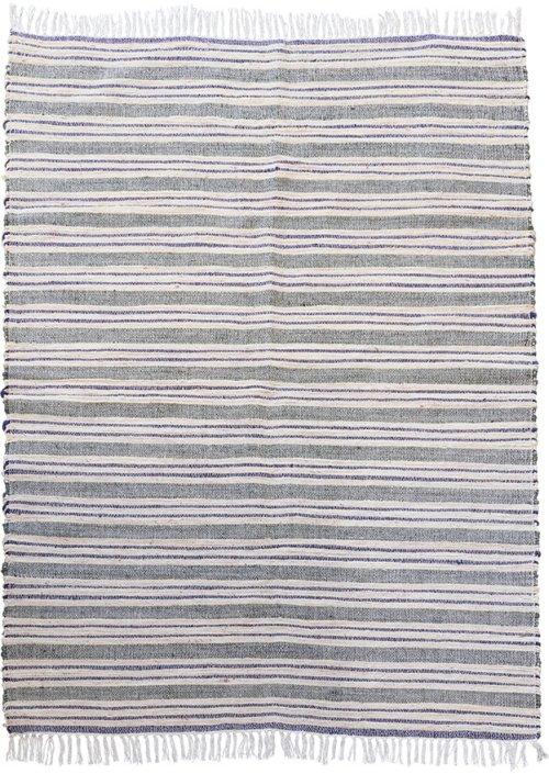På billedet ser du Tæppe, Rami fra brandet House Doctor i en størrelse 140 x 200 cm. i farven Grå/Hvid