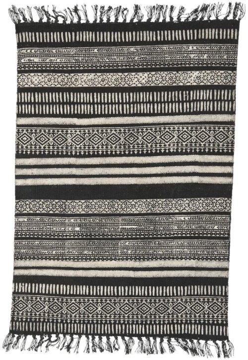 På billedet ser du variationen Tæppe, Stack fra brandet House Doctor i en størrelse 160 x 230 cm. i farven Sort/Grå