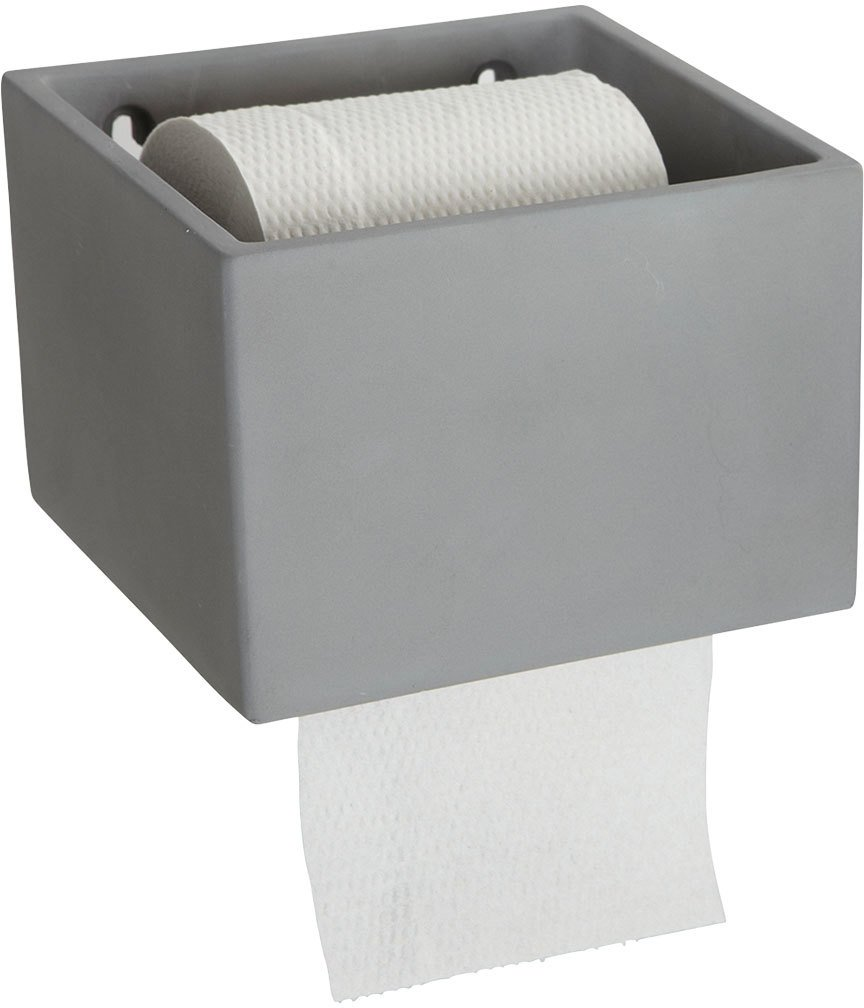 Image of   Cement, Toiletpapirholder by House Doctor (14,7 x 15 cm. x H: 10 cm., Grå)