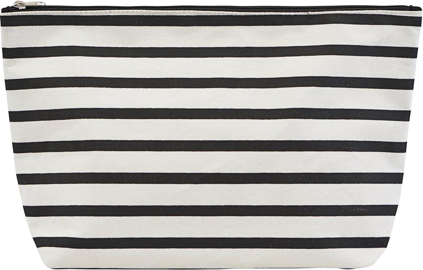 Toilettaske, Stripes by House Doctor (H: 20 cm. B: 8 cm. L: 32 cm., Sort/Hvid)