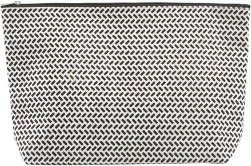 På billedet ser du variationen Toliet Taske, Paran fra brandet House Doctor i en størrelse H: 20 cm. B: 8 cm. L: 32 cm. i farven Sort/Hvid