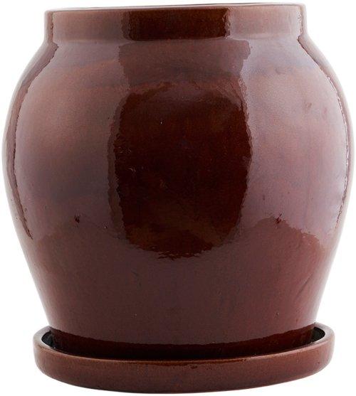 På billedet ser du variationen Antique, Urtepotte fra brandet House Doctor i en størrelse D: 41 cm. x H: 42 cm. i farven Brun