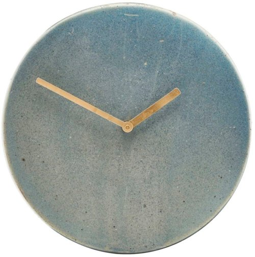 På billedet ser du variationen Metro, Væg ur fra brandet House Doctor i en størrelse D: 22 cm. i farven Grå/Blå