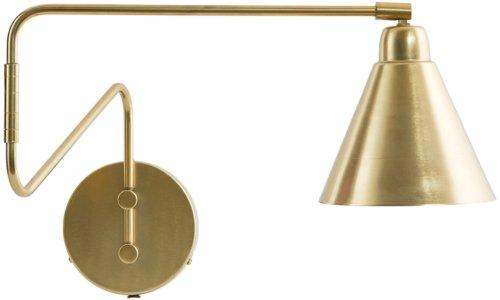 På billedet ser du variationen Game, Væglampe, Lang fra brandet House Doctor i en størrelse D: 15 cm. x H: 13 cm. x L: 70 cm. i farven Messing