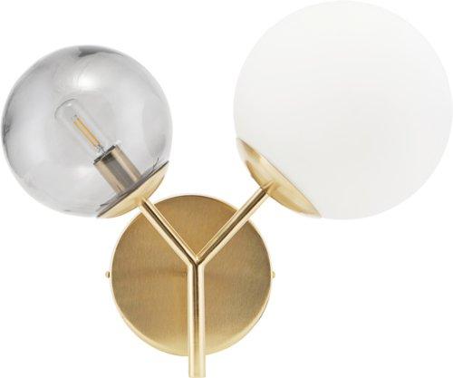På billedet ser du variationen Væglampe, Twice fra brandet House Doctor i en størrelse B: 50 cm. i farven Messing