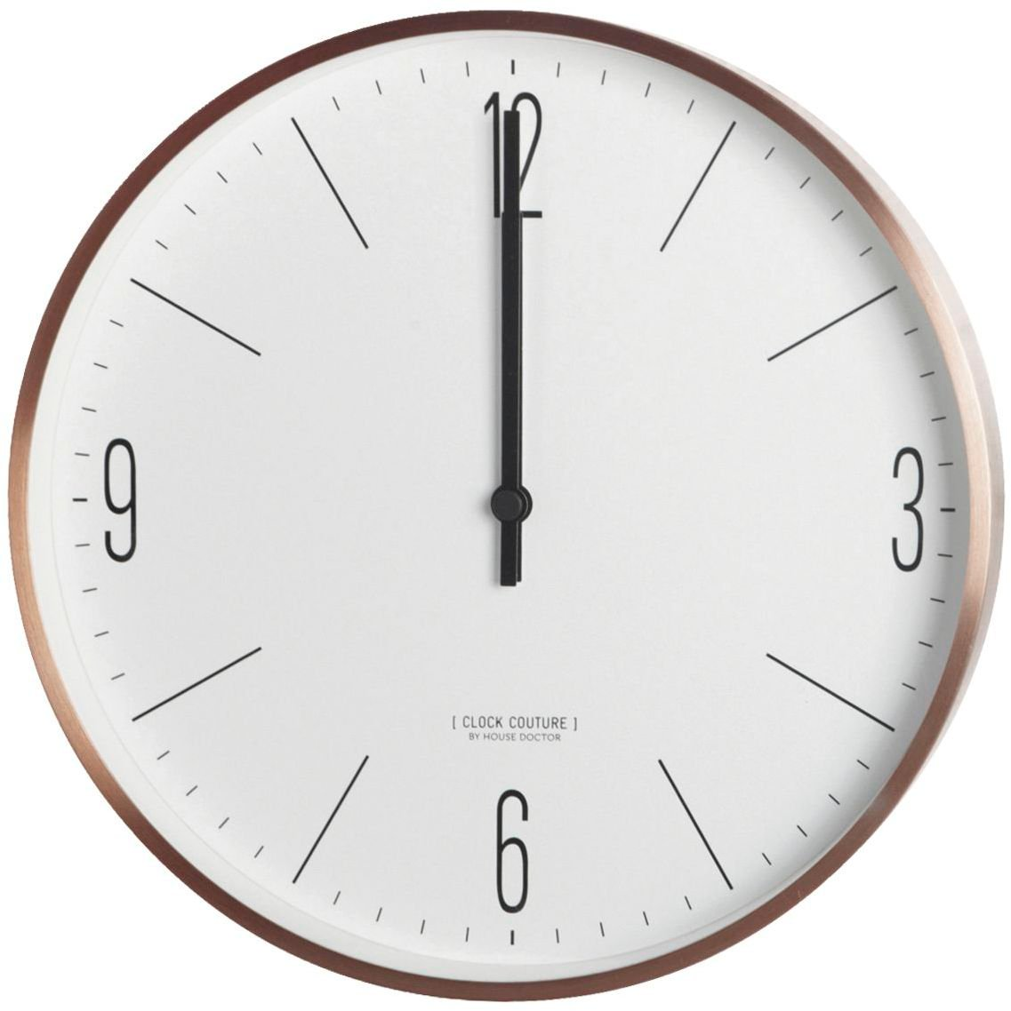 Image of   Clock Couture, Vægur, White by House Doctor (D: 30 cm., Guld/Hvid)