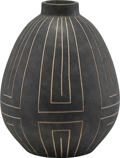 På billedet ser du variationen Vase, Aljeco fra brandet House Doctor i en størrelse D: 32,5 cm. H: 40 cm. i farven Grå/Sort