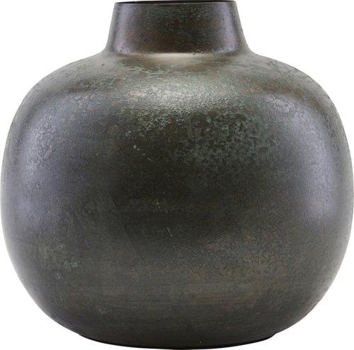På billedet ser du variationen Vase, Cardinal fra brandet House Doctor i en størrelse D: 18,5 cm. H: 18 cm. i farven Grøn/Brun