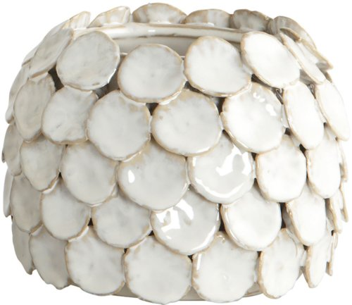 På billedet ser du variationen Dot, Vase, Small fra brandet House Doctor i en størrelse D: 15 cm. x H: 10 cm. i farven Hvid