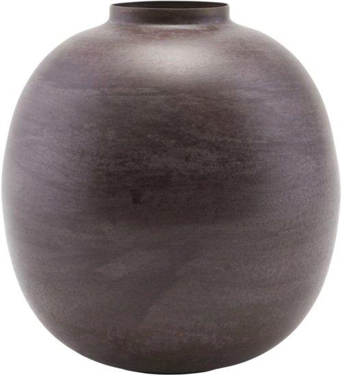 På billedet ser du variationen Vase, Etnik, Round fra brandet House Doctor i en størrelse D: 13 cm. H: 14 cm. i farven Rød