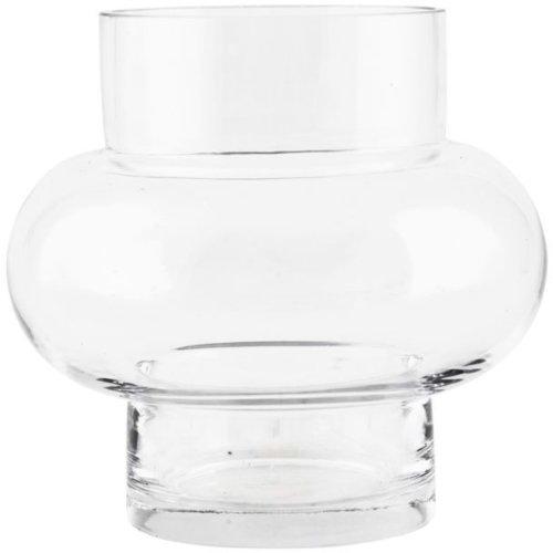 På billedet ser du variationen Forms, Vase, low fra brandet House Doctor i en størrelse D: 17 cm. x H: 16 cm. i farven Klar