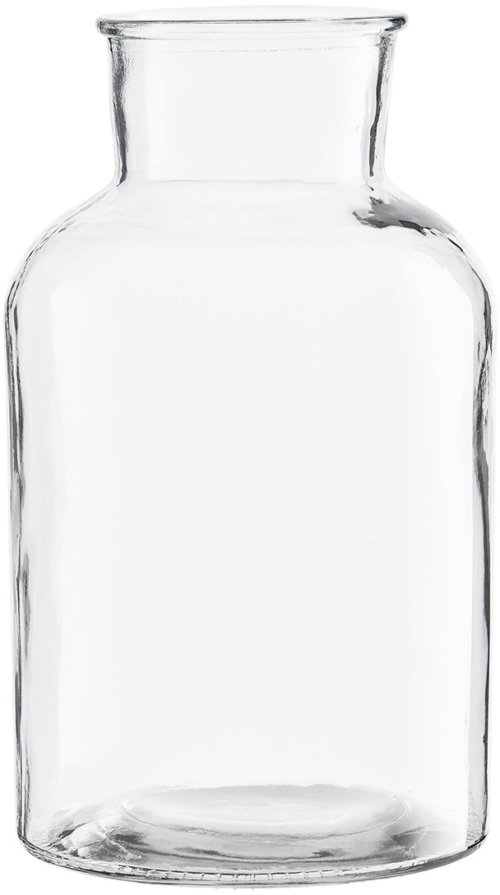 På billedet ser du variationen Glass, Vase, Krukkeform fra brandet House Doctor i en størrelse D: 17 cm. x H: 30 cm. i farven Klar