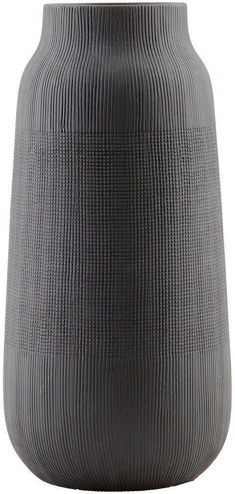 På billedet ser du variationen Groove, Vase fra brandet House Doctor i en størrelse D: 16 cm. x H: 35 cm. i farven Sort