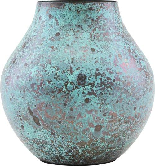 På billedet ser du variationen Vase, Kojo fra brandet House Doctor i en størrelse D: 6,2 cm. H: 12 cm. i farven Turkis