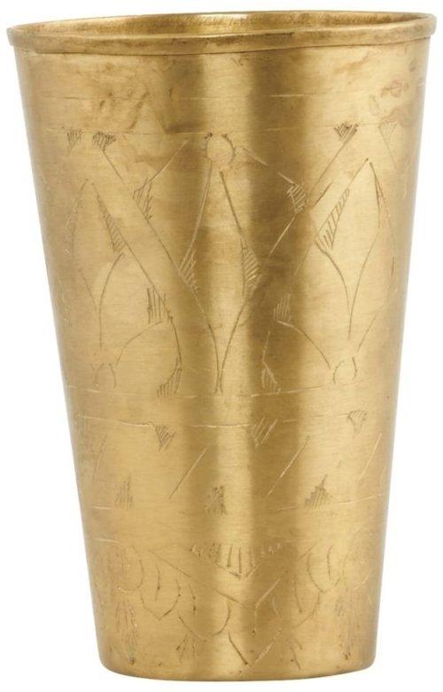 På billedet ser du variationen Lassi, Vase fra brandet House Doctor i en størrelse D: 8 cm. x H: 12 cm. i farven Messing