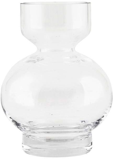 På billedet ser du variationen Lowa, Vase fra brandet House Doctor i en størrelse D: 7/12 cm. x H: 16 cm. i farven Klar