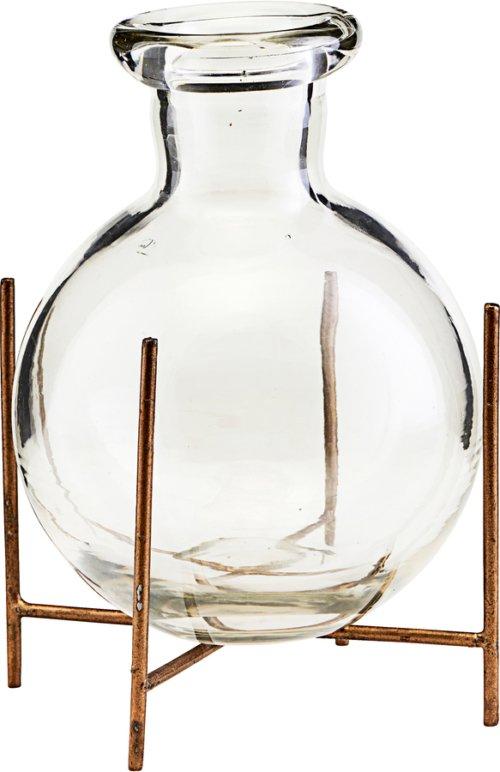 På billedet ser du variationen Vase m. stel, Lana fra brandet House Doctor i en størrelse D: 10 cm. H: 12 cm. i farven Glas
