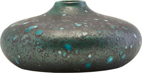 På billedet ser du variationen Vase, Macey fra brandet House Doctor i en størrelse D: 19 cm. H: 9 cm. i farven Turkis