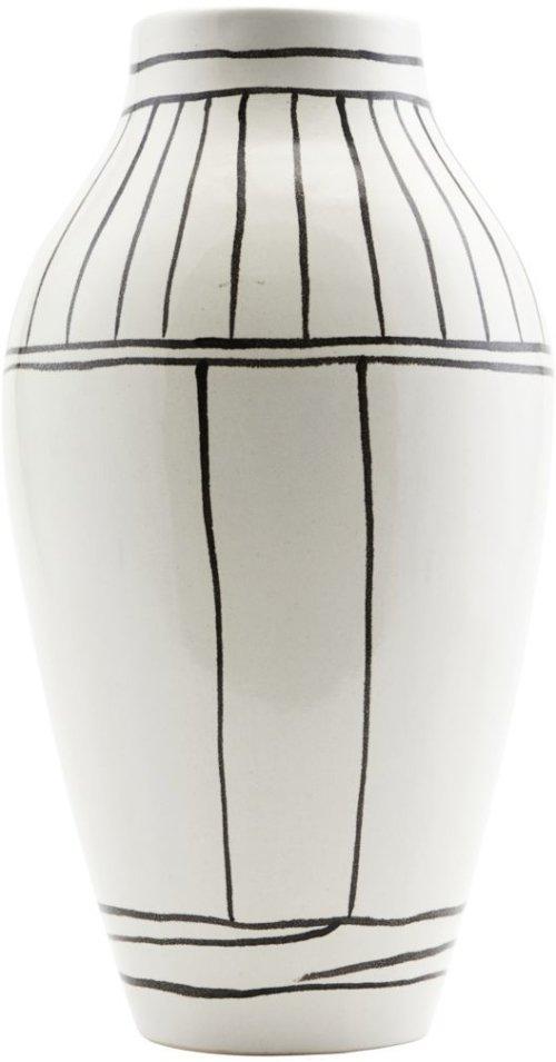 På billedet ser du variationen Outline, Vase fra brandet House Doctor i en størrelse D: 14 cm. x H: 26 cm. i farven Hvid