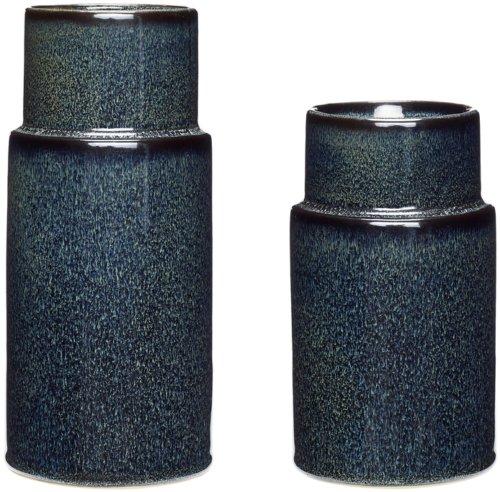 På billedet ser du variationen Vase, Equality fra brandet Hübsch i en størrelse Sæt á 2 stk. i farven Blå
