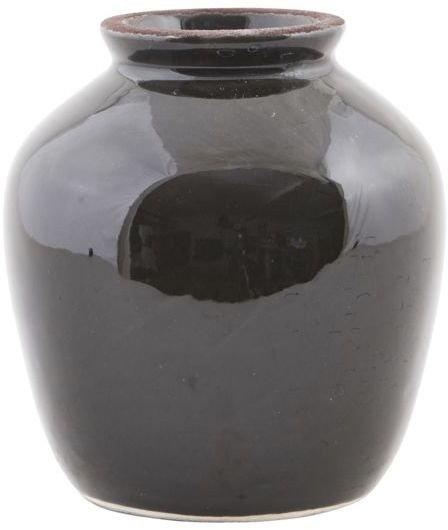 På billedet ser du variationen Shine, Vase fra brandet House Doctor i en størrelse D: 12 cm. x H: 14 cm. i farven Sort