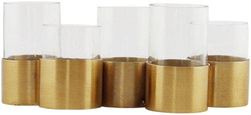 På billedet ser du variationen T5, Vase/lysestage fra brandet House Doctor i en størrelse 21 x 8,9 cm. x H: 12 cm. i farven Messing