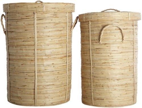 På billedet ser du variationen Vasketøjskurv, Chaka fra brandet House Doctor i en størrelse D: 45 cm. x H: 64 cm. i farven Natur