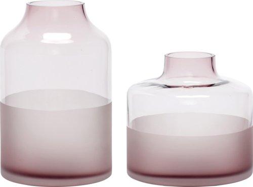 På billedet ser du variationen Vase, Guanting fra brandet Hübsch i en størrelse Sæt á 2 stk. i farven Rosa