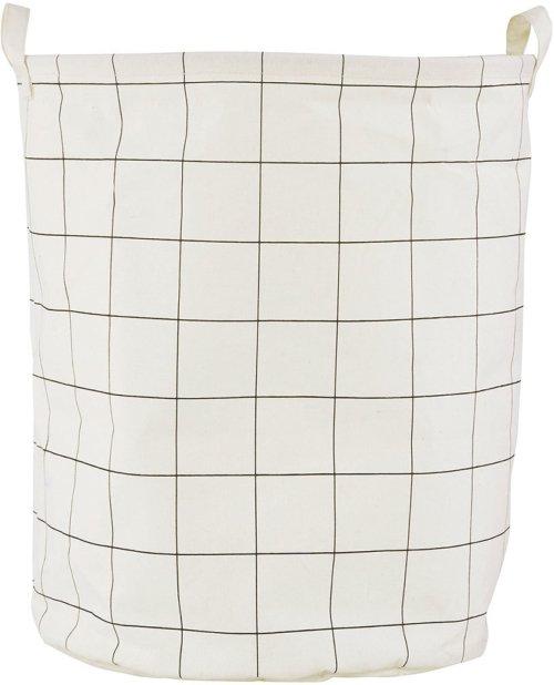 På billedet ser du variationen Vasketøjspose, Squares fra brandet House Doctor i en størrelse D: 40 cm. x H: 50 cm. i farven Hvid