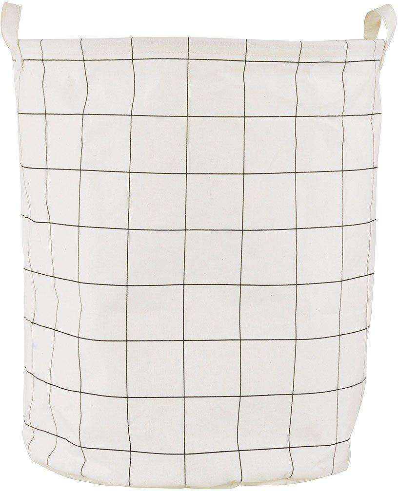 Image of   Vasketøjspose, Squares by House Doctor (D: 40 cm. x H: 50 cm., Hvid)
