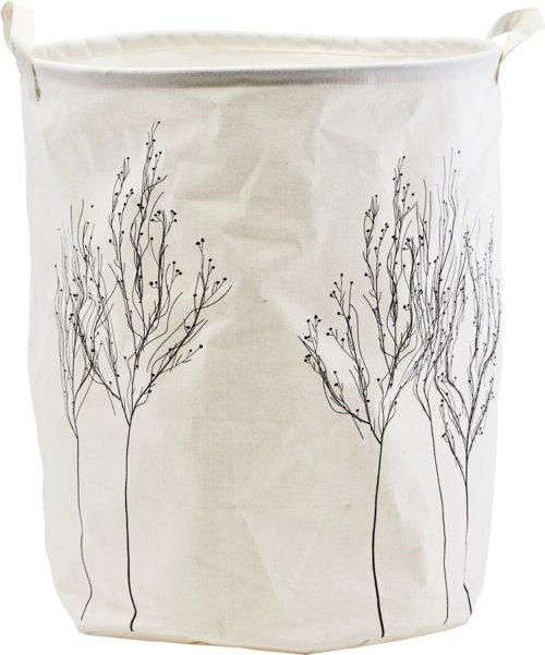 På billedet ser du variationen Vasketøjspose, Woods fra brandet House Doctor i en størrelse D: 40 cm. H: 50 cm. i farven Hvid