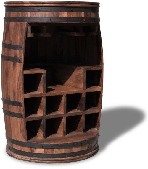 På billedet ser du Vintønde barskab, Rosey-Say fra brandet OBUZI i en størrelse D: 55 cm. H: 80 cm. i farven Mørk Natur/Sort