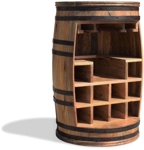 På billedet ser du variationen Vintønde barskab, Rosey-Say Raw fra brandet OBUZI i en størrelse D: 55 cm. H: 80 cm. i farven Natur/Sort