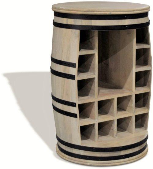 På billedet ser du variationen Vintønde barskab, Rosey Manga-Jo fra brandet OBUZI i en størrelse D: 55 cm. H: 80 cm. i farven Hvid/Sort