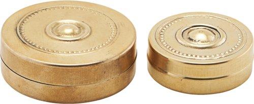 På billedet ser du variationen Æske mini, Messing fra brandet Meraki i en størrelse Ø: 3,5 cm. H: 1,1 cm. L: 4,8 cm. i farven Guld