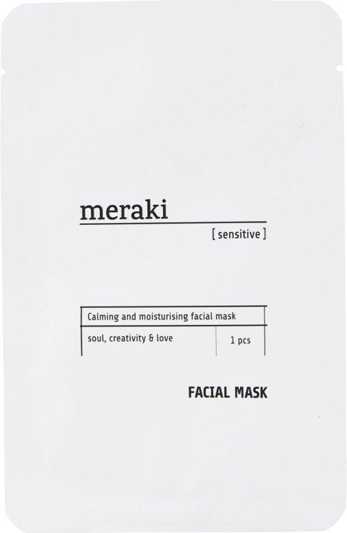 På billedet ser du variationen Ansigtsmaske, sensitive fra brandet Meraki i en størrelse 1 STK./PKG. i farven Hvid