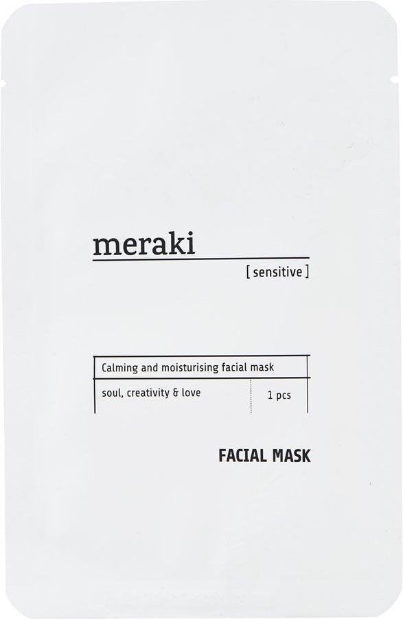 Image of   Ansigtsmaske, sensitive by Meraki (1 Stk./Pk., Hvid)