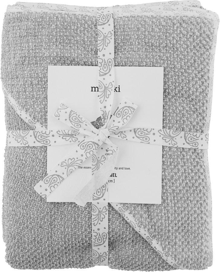 Image of   Baby Håndklæde, Meraki Mini by Meraki (H: 80 cm. L: 80 cm., Hvid/Grå)