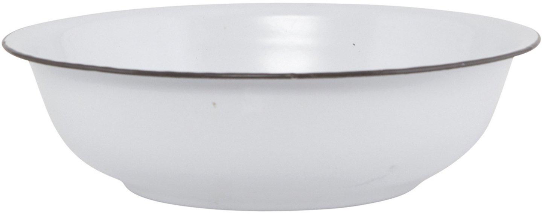 Image of   Balje, emaljefad, dia.: 20 cm by Meraki (Ø: 40 cm. H: 12 cm., Hvid)