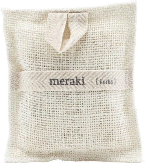 På billedet ser du variationen Bath Mitt, Herbs fra brandet Meraki i en størrelse H: 15 cm. L: 22 cm. i farven Elfenben