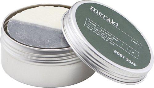 På billedet ser du variationen Body soap, Men fra brandet Meraki i en størrelse Ø: 8,5 cm. H: 3,8 cm. i farven Sølv