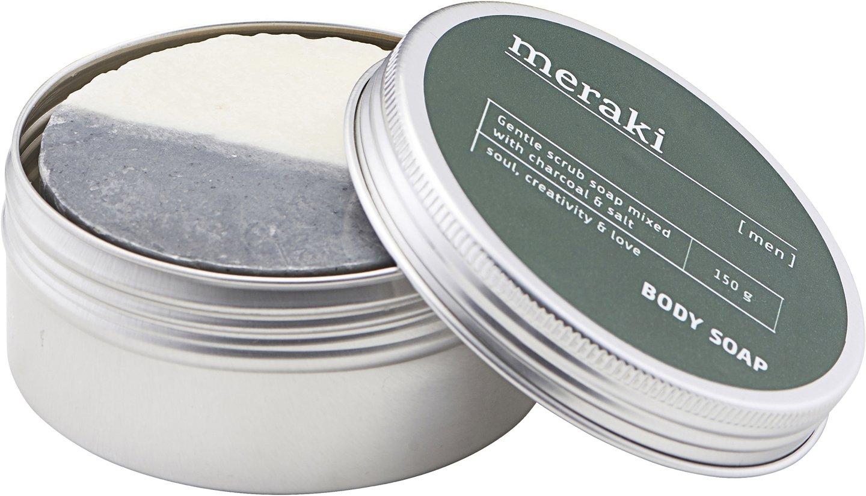 Image of   Body soap, Men by Meraki (Ø: 8,5 cm. H: 3,8 cm., Sølv)